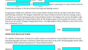 Fashion Show Contract Template Fashion Festival Designers Contract 1