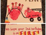 Father S Day Easy Card Ideas Firefighter Birthday Card Firefighter Handprint and Fire