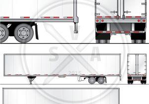 Fcpx Trailer Templates 53 Foot Dryvan Trailer Wrap Design Template Stock Vector Art
