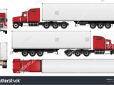 Fcpx Trailer Templates Big Truck Trailer Vector Template Semi Stock Vector