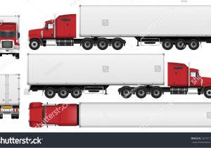 Fcpx Trailer Templates Big Truck Trailer Vector Template Semi Stock Vector