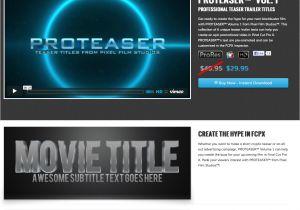 Fcpx Trailer Templates Pixel Film Studios Releases Proteaser Teaser Trailer