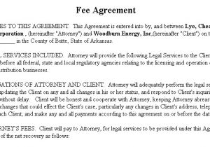 Fee for Service Contract Template Fee Agreement Gtld World Congress