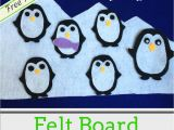 Felt Storyboard Templates Flannel Board Stories Five Baby Penguins