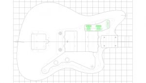 Fender Jazzmaster Body Template Fender Jazzmaster Guitar Templates Electric Herald
