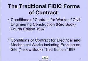 Fidic Yellow Book Contract Template An Overview Of the Fidicv forms Of Contractv and Contracts