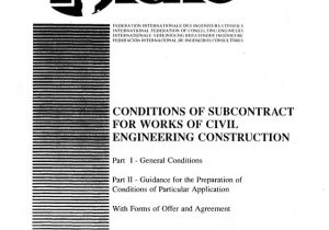 Fidic Yellow Book Contract Template Fidic Conditions Of Subcontract Agreement