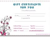 Fill In Gift Certificate Template Business Gift Certificate Template