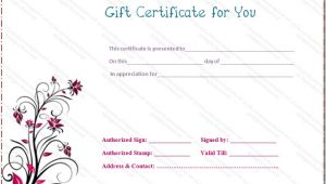 Fill In Gift Certificate Template Gift Certificate Templates