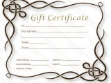 Fill In Gift Certificate Template Simple Gift Certificate Templates