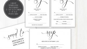 Fill Out Rsvp Card Wedding Wedding Rsvp Templates Rsvp Postcard Calligraphy Rsvp