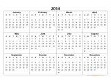 Fillable Calendar Template 2014 2014 Calendar Blank Printable Calendar Template In Pdf