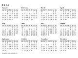 Fillable Calendar Template 2014 2014 Printable Calendar Download Templates