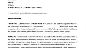 Film Crew Contract Template Film Crew Contract Template Sampletemplatess