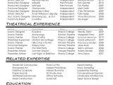 Film Director Resume Template Film theatre Resume