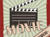 Film Premiere Invitation Template Movie Film Premiere Retro Invitation Poster Vector Image