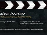 Film Premiere Invitation Template Movie Invitations Template Resume Builder