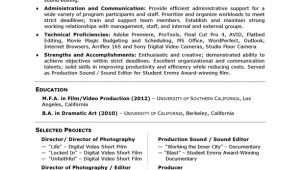 Film Student Resume Careerperfect Academic Skill Conversion Film and