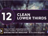 Final Cut Pro Lower Thirds Templates Clean Lower Thirds for Final Cut Pro X by Whitemarker