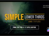 Final Cut Pro Lower Thirds Templates Simple Lower Thirds and Titles Fcpx by Whitemarker Videohive