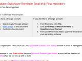 Final Reminder Email Template Template Reminder Email 4 Data Migration Google Docs