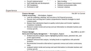 Finance Manager Resume Sample Best Finance Manager Resume Example Livecareer