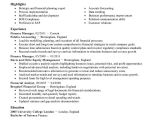Finance Manager Resume Template Best Finance Manager Resume Example Livecareer