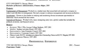Finance Student Resume Finance Student Resume Example Sample