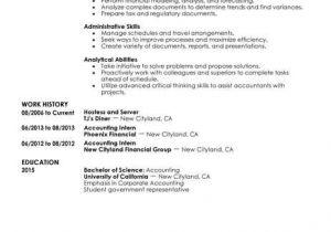 Finance Student Resume for Internship Best Training Internship Resume Example Livecareer