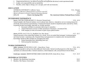 Finance Student Resume for Internship Finance Internship Resume Samples Templates Vault Com