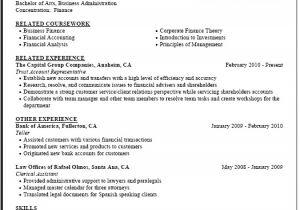 Finance Student Resume for Internship Finance Internship Resume Template Clr