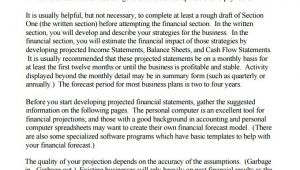 Financial Part Of Business Plan Template Financial Business Plan Templates 8 Free Premium Word
