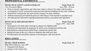 Fire and Safety Fresher Resume format Pin by Resume Companion On Resume Samples Across All