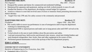 Fire Captain Resume Sample Pin Firefighter Resume On Pinterest