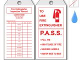 Fire Extinguisher Inspection Tag Template Fire Equipment Tags Labels