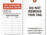 Fire Extinguisher Inspection Tag Template Fire Extinguisher Tags Fire Extinguisher Inspection Tags