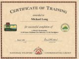 Fire Training Certificate Template Mike Long Cf Ms