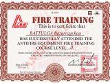 Fire Training Certificate Template Training Certificates Antifire
