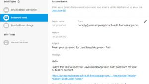 Firebase Email Templates Firebase Authentication Send Reset Password Email