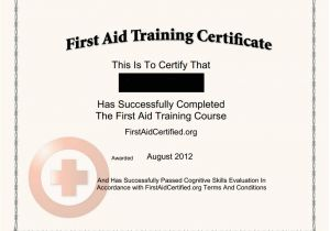 First Aid Certificate Template Free First Aid Certificate Template First Aid Certificate