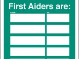 First Aid Poster Template First Aid Safety Signs