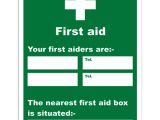 First Aid Poster Template First Aid Sign