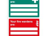 First Aid Poster Template First Aiders and Fire Wardens Signs with A4 Printable