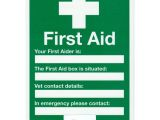 First Aid Poster Template Sign First Aid A4 the British Horse society