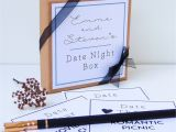 First Anniversary Card for Husband Date Night Box Date Night Ideas Date Night Cards First
