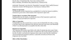 First Right Of Refusal Contract Template Right Of First Refusal Contract for Shares First Right