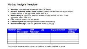 Fit Gap Analysis Template Xls 16 Sample Gap Analysis Templates Pdf Excel Word