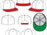 Fitted Hat Template Hat Template Set 01 Hellovector