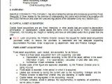 Fixed asset Policy Template Internal Controls Templates