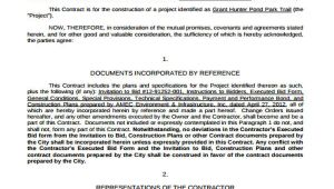 Fixed Price Construction Contract Template 25 Contract Agreement forms In Pdf